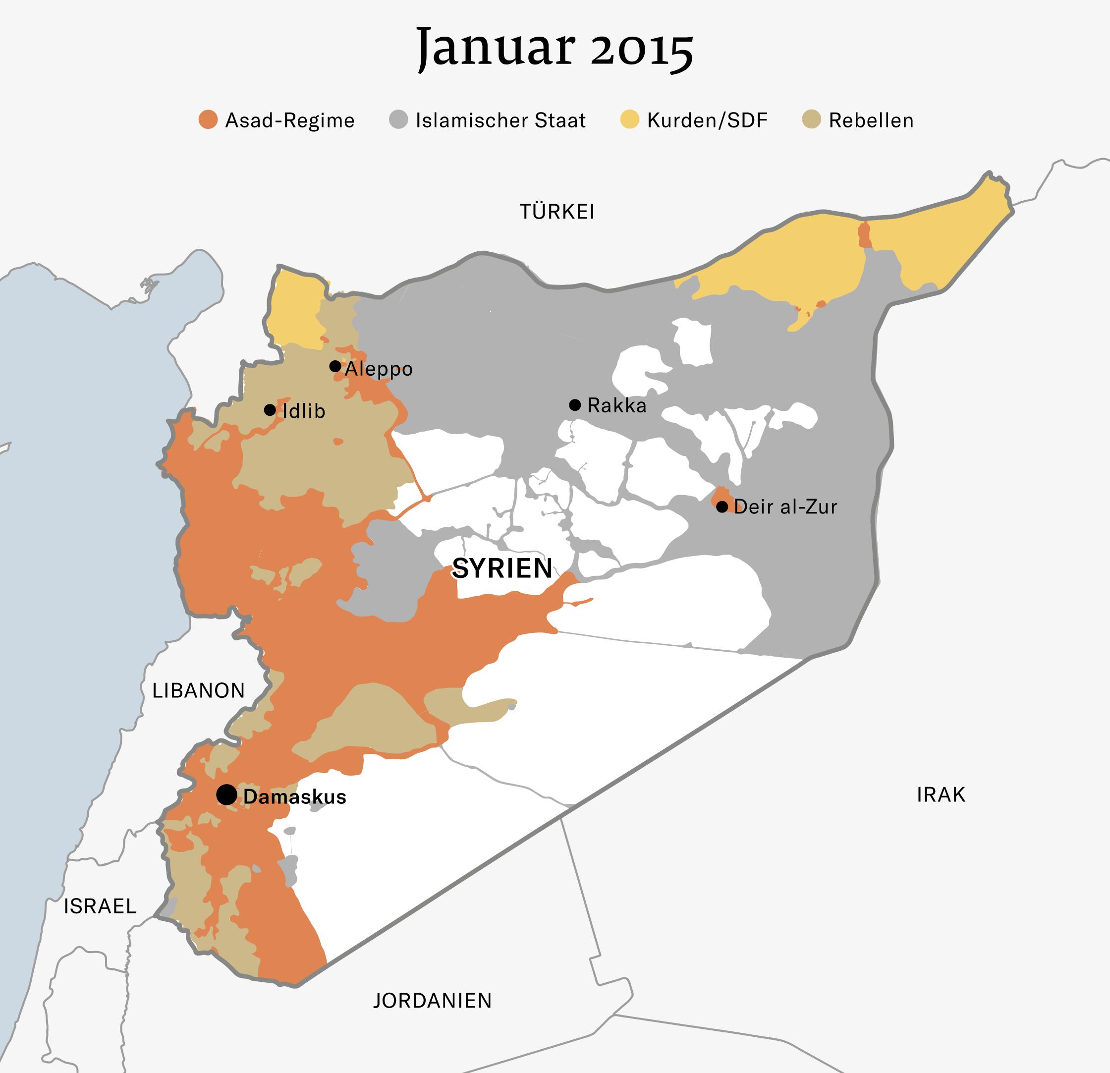 Syrien Karte Mit Städten.Syrien Antworten Zur Lage Im Syrien Konflikt Nzz