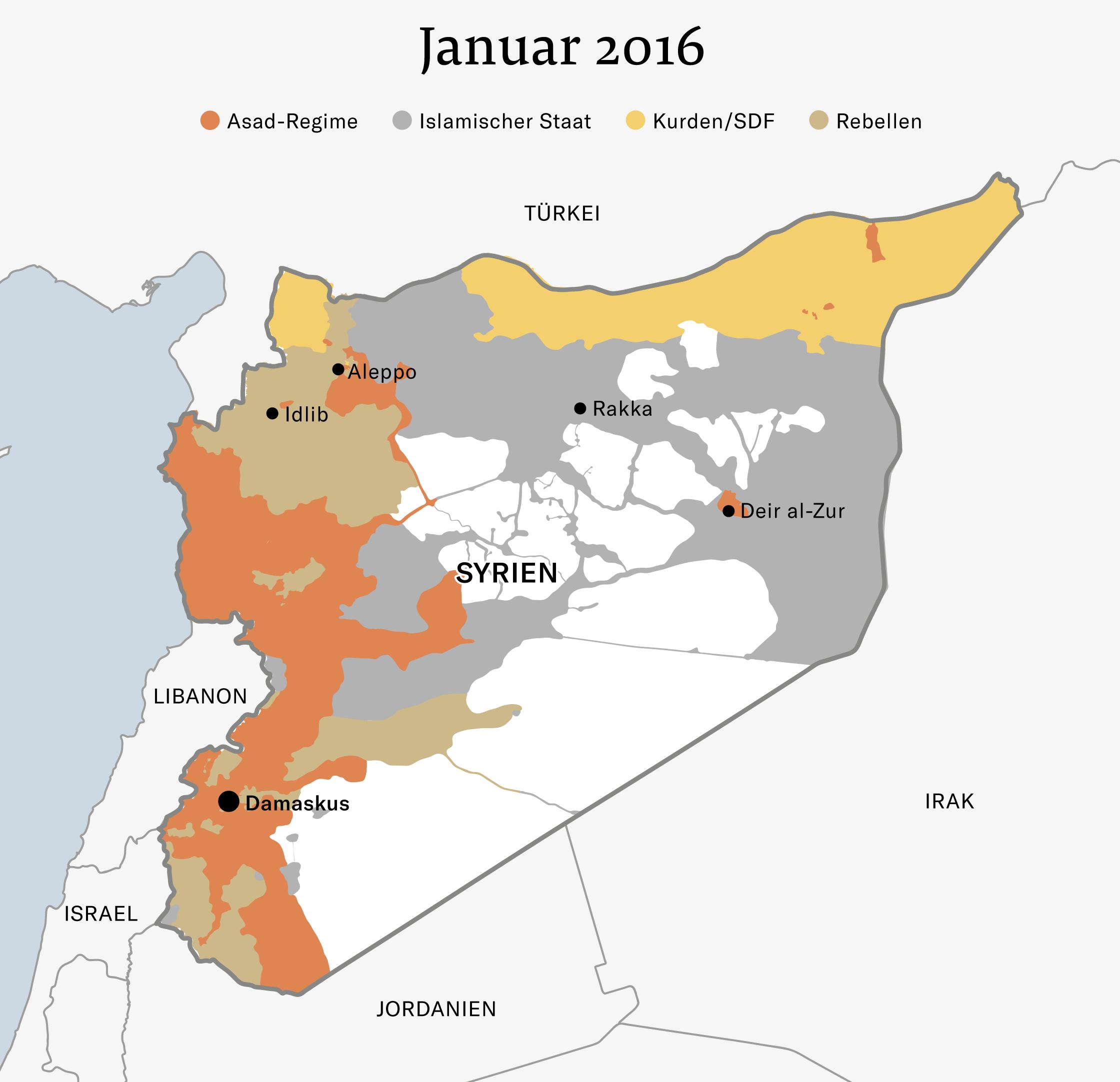Syrien Irak Karte.Syrien Antworten Zur Lage Im Syrien Konflikt Nzz