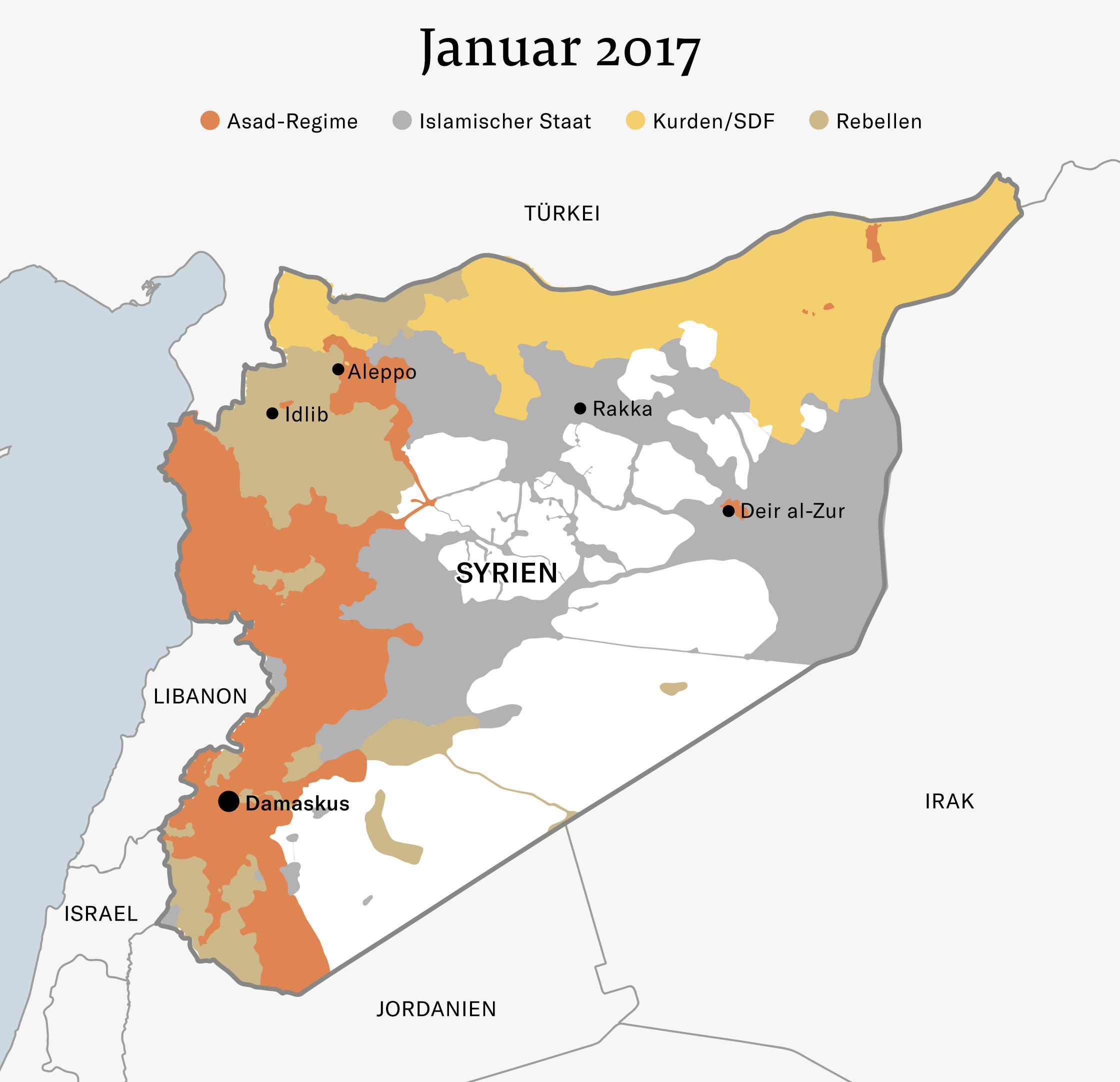 Karte Syrien Irak.Syrien Antworten Zur Lage Im Syrien Konflikt Nzz