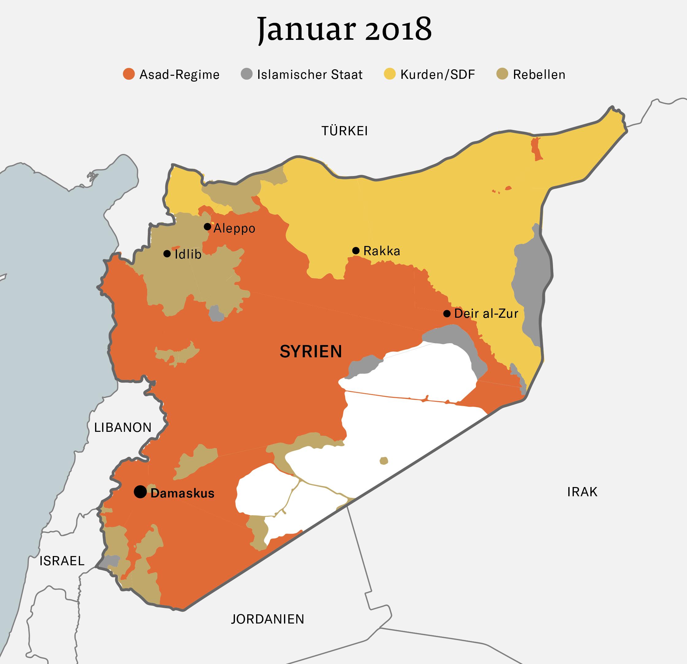 Syrien Karte Aktuell 2018.Syrien Antworten Zur Lage Im Syrien Konflikt Nzz