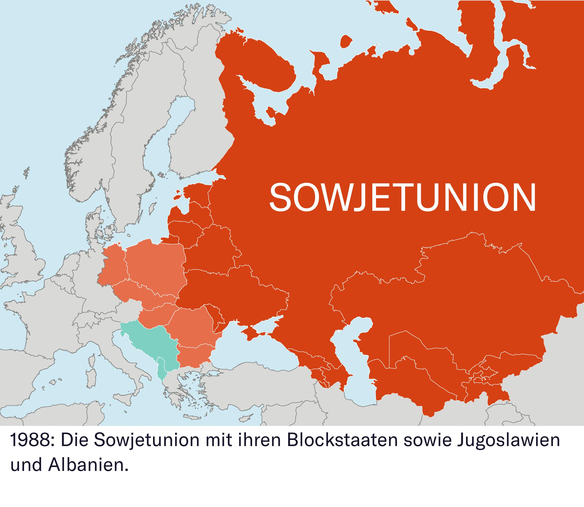 Gorbatschow, das Ende des Ostblocks und der Untergang der DDR